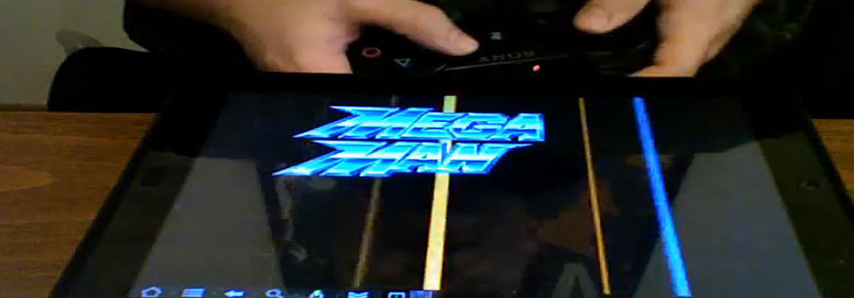 HP TouchPad running an SNES emulator on Cyanogen Mod with the