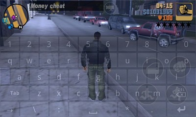 Once in game call up the keyboard by pressing Vol+ to enter the cheats.