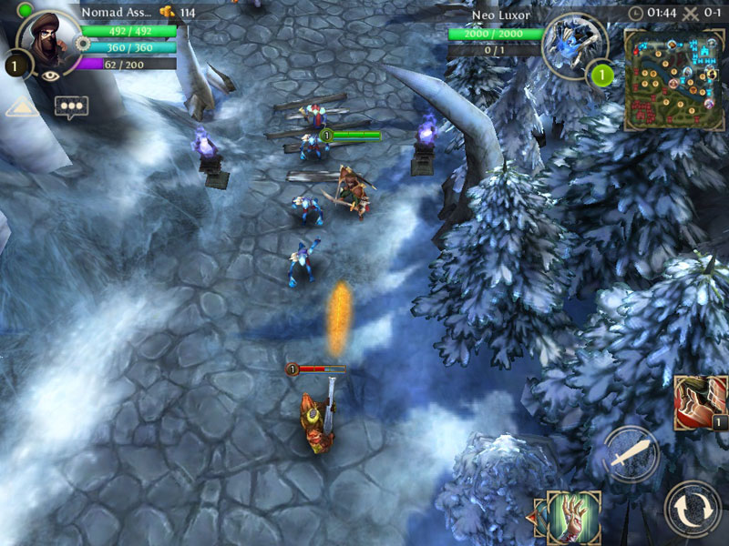 Gameloft's upcoming Heroes of Order & Chaos will be DOTA for mobile