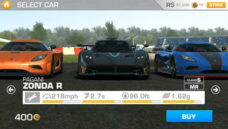 Real Racing 3 Has A Few Supercars Available But They Are Not Cheap