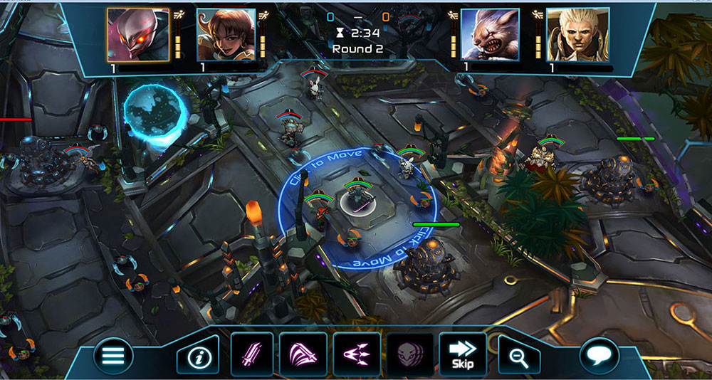 Arena of Heroes tactical MOBA now on Ouya, a console