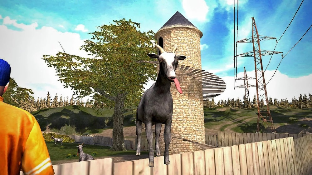 Goat Simulator updated with a new city, a lickable
