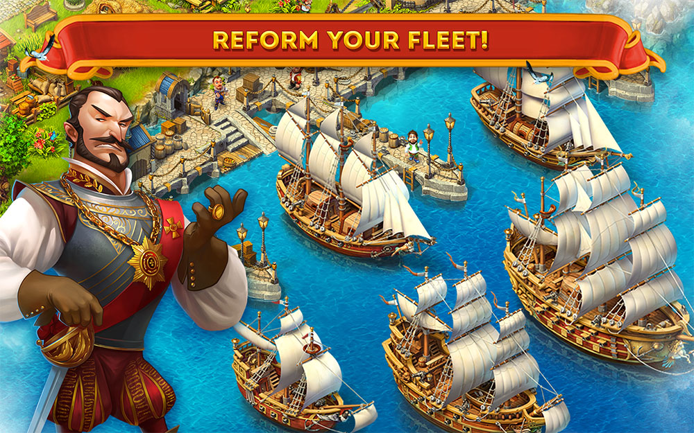 Game Insight releases a naval-style city building game