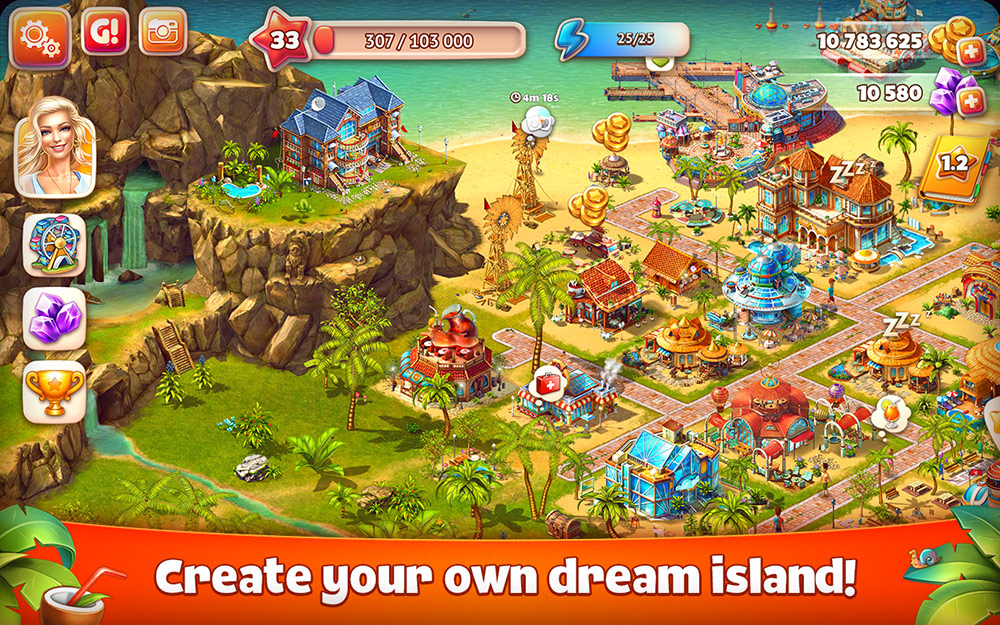 Virtual Island Management on Android is Out Now in Paradise