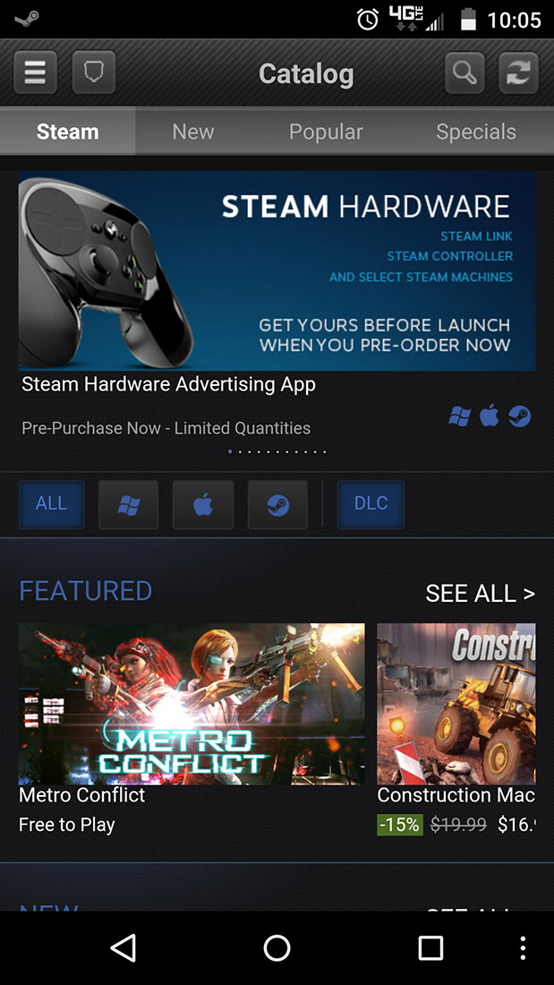 Valve's official Steam app has finally been updated with a
