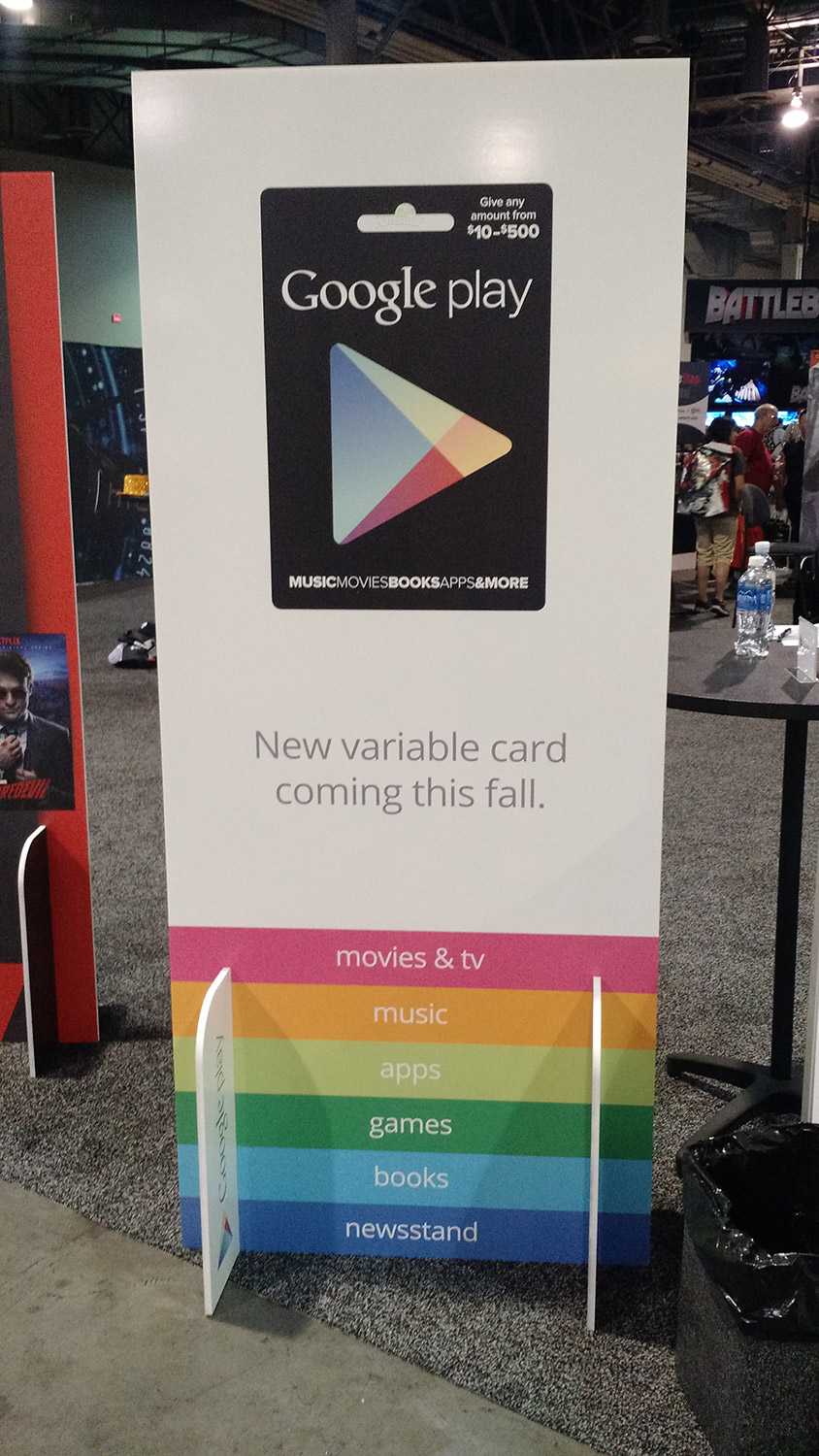 Looks like a variable amount Google Play gift card is ...