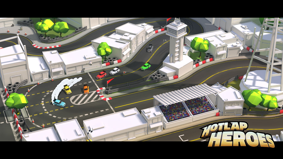 Hotlap Heroes and its controller companion app are both