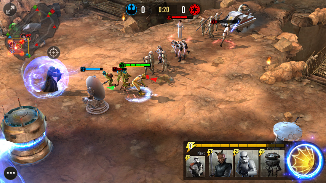NetMarble's upcoming Star Wars: Force Arena mobile game now