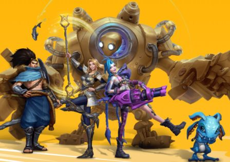league-of-legends-wild-rift-characters-on-a-yellow-background