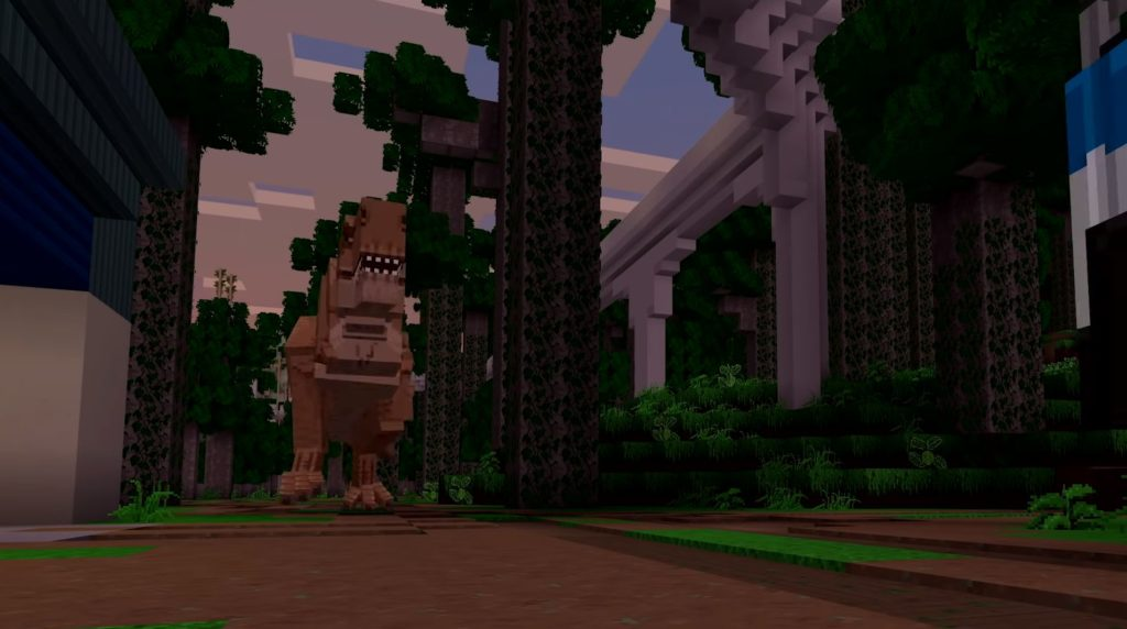 Minecraft adds dinosaurs with the new Jurassic World DLC, available now