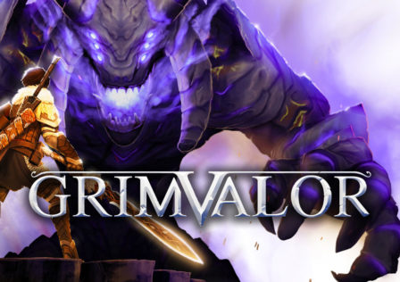 grimvalor-artwork-facing-off-against-a-giant-blue-demon-with-your-glowing-sword